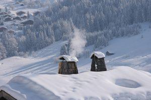 Komínový systém v zimnom období