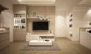 Stavané skrine aj v obývačke